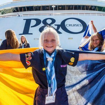 Birthday girl Leni Hamilton with a signal flag