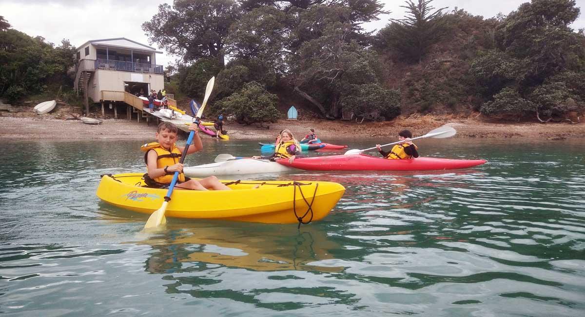 waiheke scouts kayaking